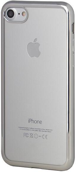 EPICO Pružný plastový kryt pro iPhone 7 BRIGHT - stříbrný