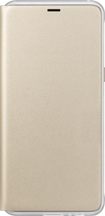 Samsung A8 flipové neonové pouzdro, zlatá