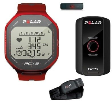 Polar RCX5 Red G5 (Multisport GPS), vč. interface DataLink