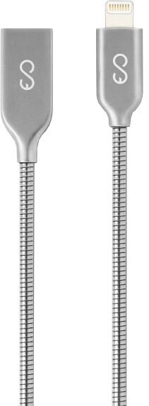 EPICO metallic Lightning, 1,2m, stříbrná
