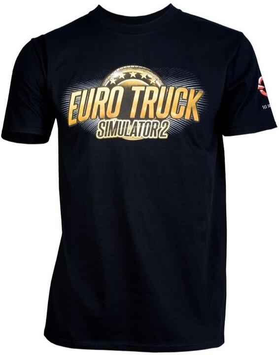 Tričko Euro Truck Simulator - Černé s logem (XXL)