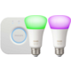 Philips Hue 9.5W A19 E27 2 set EU + Philips Hue Bridge