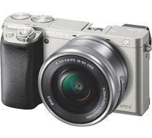 Sony Alpha 6000 + 16–50mm, stříbrná - ILCE6000LS.CEC