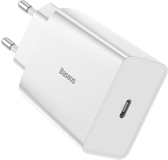 Baseus síťová nabíječka Speed Mini, USB-C PD, 18W, bílá