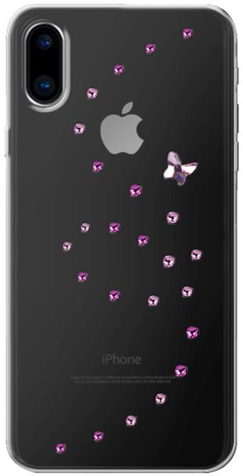 Bling My Thing Papillon Rose Sparkles zadní kryt pro Apple iPhone X, krystaly Swarovski®