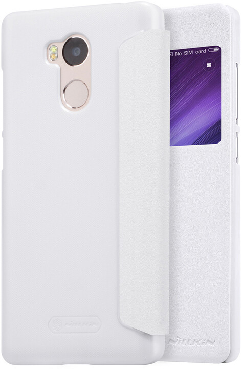 Nillkin Sparkle Leather Case pro Xiaomi Redmi 4 Pro, bílá