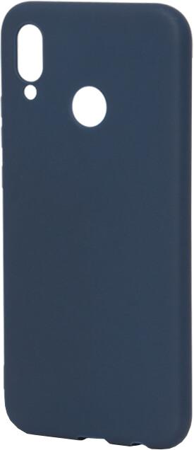 EPICO Pružný plastový kryt pro Huawei P20 Lite SILK MATT - tmavě modrý