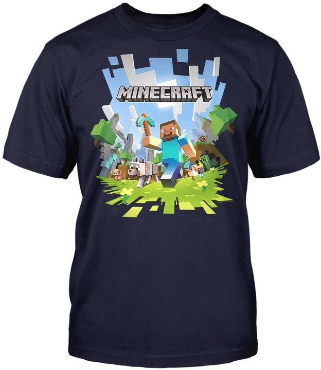Tričko Minecraft Adventure Logo dětské 116 (5-6 let)  82476bf99c