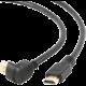 Gembird CABLEXPERT kabel HDMI-HDMI 3m, 1.4, M/M stíněný, zlacené kontakty, 90° lomený, černá