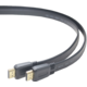 PremiumCord HDMI High Speed + Ethernet plochý kabel, zlacené konektory, 1m