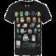 Tričko Minecraft Sprites, černé (US XL / EU XXL)