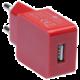 CONNECT IT nabíjecí adaptér 1xUSB port 1 A, červená