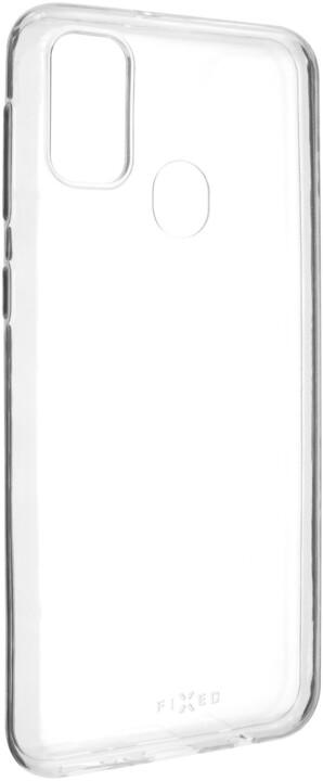 FIXED ultratenké TPU gelové pouzdro Skin pro Samsung Galaxy M21, 0.6 mm, čirá