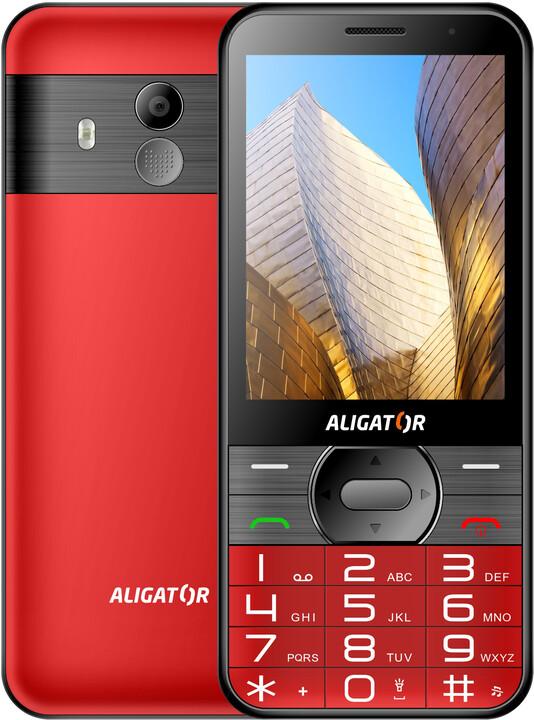 Aligator A900 Senior, Red + nabíjecí stojánek