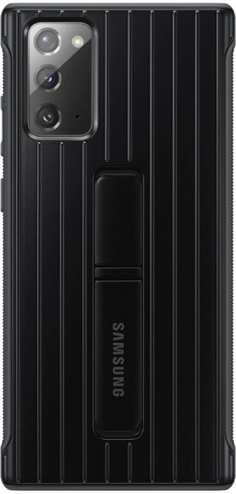 Samsung tvrzený ochranný kryt pro Samsung Galaxy Note20, se stojánkem, černá