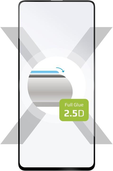 FIXED ochranné tvrzené sklo pro Samsung Galaxy A52, Full-Cover, černá