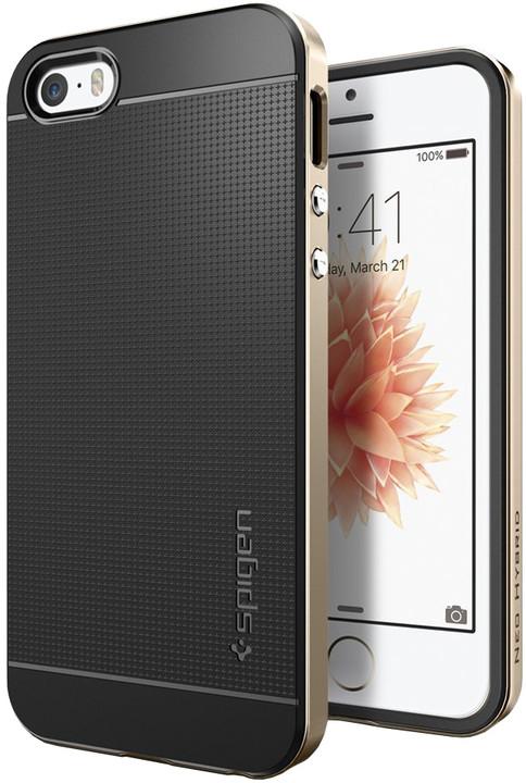 Spigen Neo Hybrid kryt pro iPhone SE/5s/5, zlatá