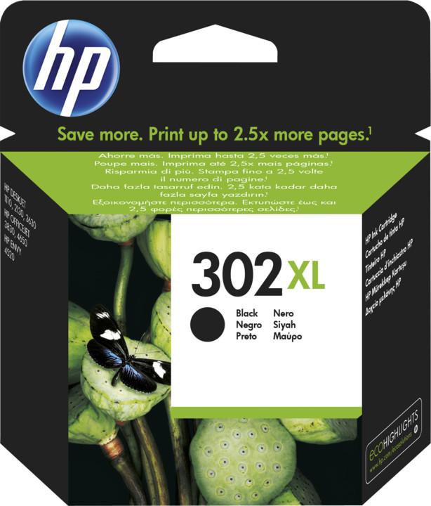 HP F6U68AE, černá, č. 302XL