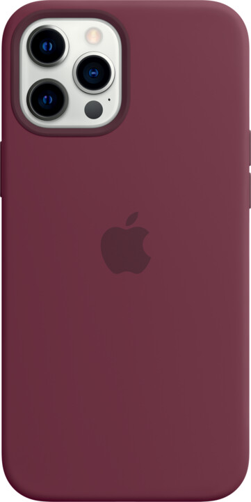 Apple silikonový kryt s MagSafe pro iPhone 12 Pro Max, vínová