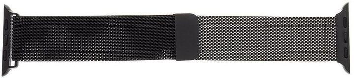 Tactical 351 kovový řemínek Loop pro Apple Watch 1/2/3/4/5/6/SE, magnetický, 42/44mm, černá