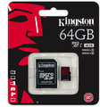 Kingston Micro SDXC 64GB Class 10 UHS-I U3 + SD adaptér