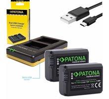 Patona nabíječka Foto Dual Quick Sony NP-FW50 + 2x baterie 1030mAh USB - PT1964B