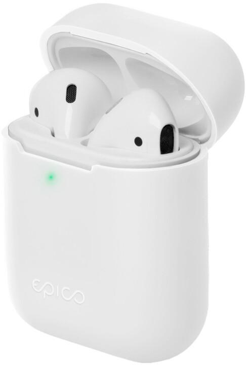 EPICO silikonový pouzdro pro Airpods Gen 2, bílá