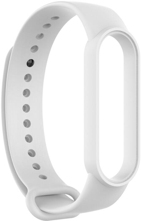 Epico silikonový náramek pro Xiaomi Mi Band 6, bílá