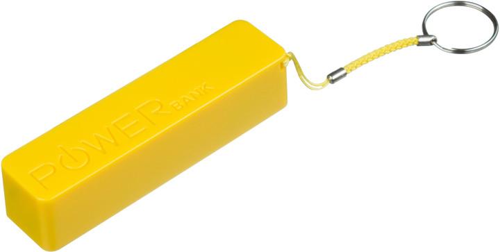 CONNECT IT COLORZ powerbank 2600 mAh, 1A, žlutý