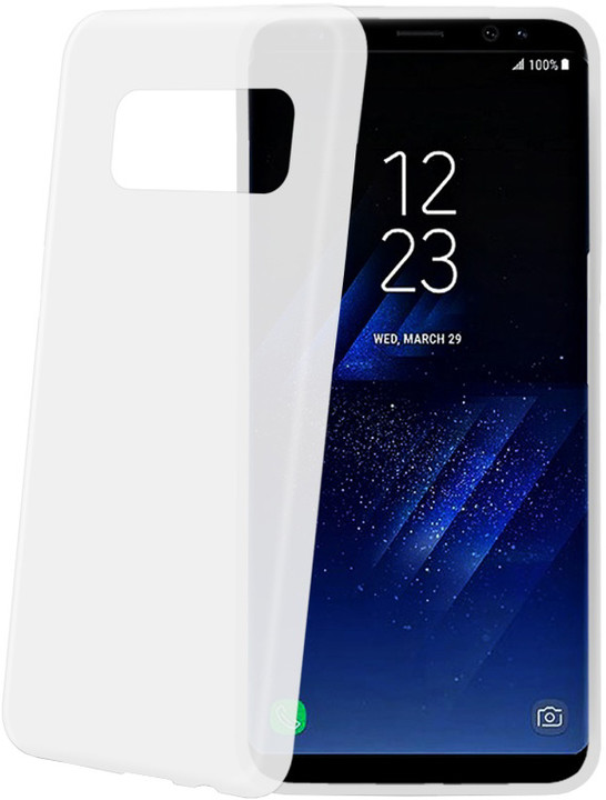 CELLY Frost Ultra tenké TPU pouzdro pro Samsung Galaxy S8 Plus, 0,29 mm, bílé
