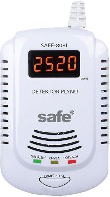 SAFE 808L hlásič zemního plynu, LCD displej