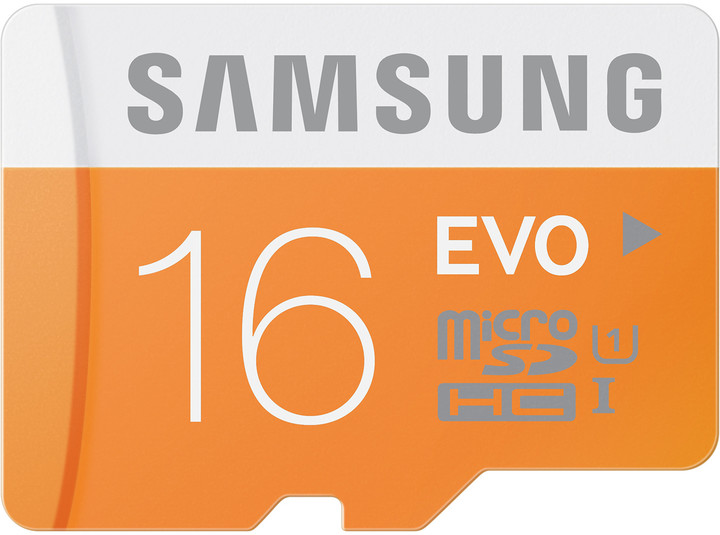 Samsung Micro SDHC EVO 16GB + SD adaptér