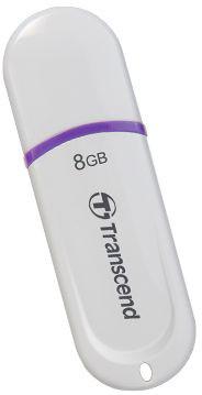 Transcend JetFlash 330 8GB, bílo/fialový