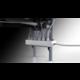 Meliconi 488068 GHOST DESIGN 2000 Držák a stolek pro TV, stříbrná