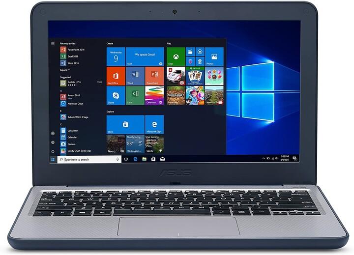 ASUS VivoBook W202NA, modrá