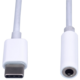 PremiumCord převodník USB-C - jack 3,5mm, M/F, 10cm, bílá