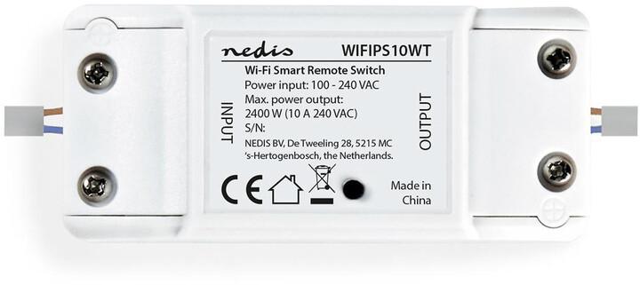 Nedis Wi-Fi chytrý spínač pro elektrický obvod, 10 A