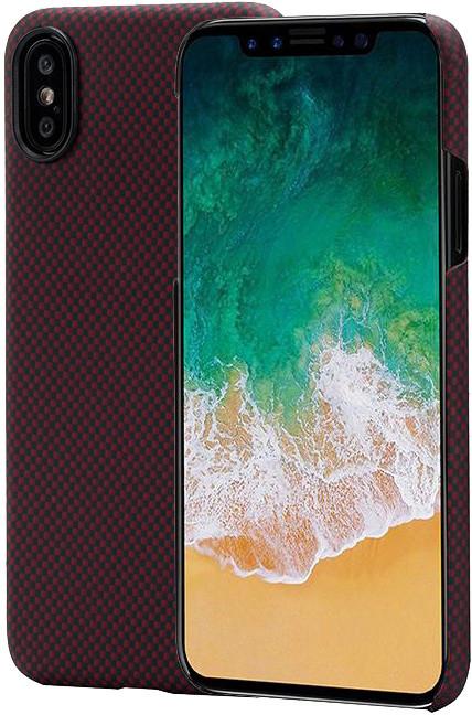Pitaka Aramid case iPhone X (plain), černá/ červená