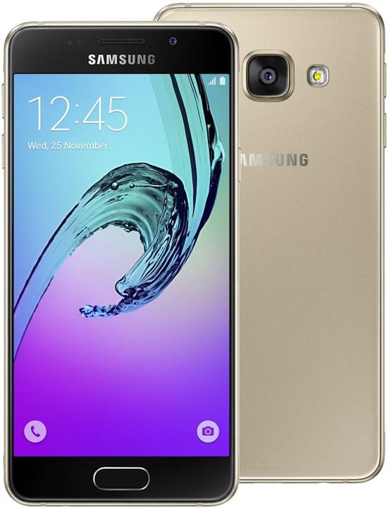 Samsung Galaxy A3 (2016) LTE, zlatá