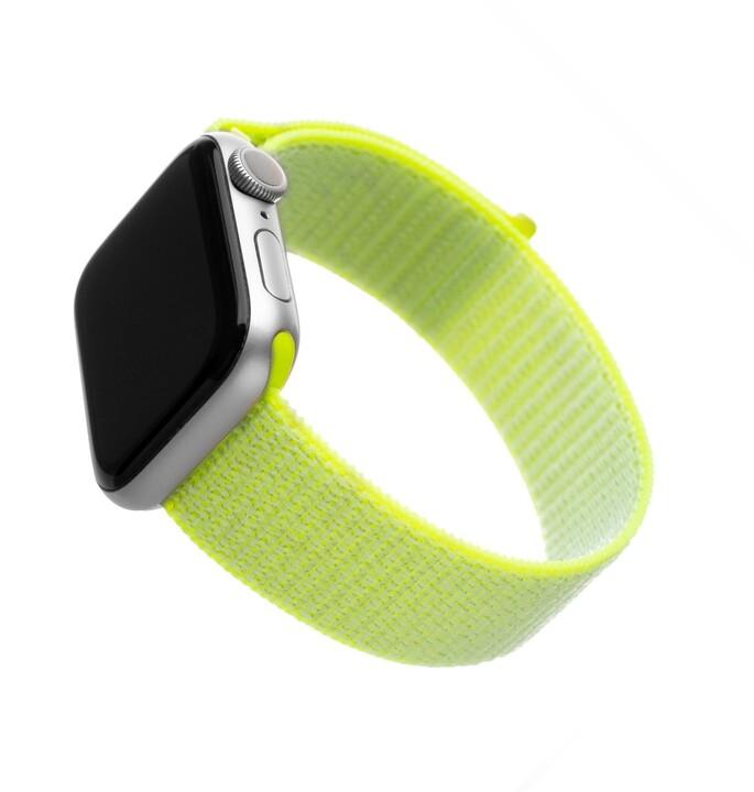 FIXED nylonový řemínek pro Apple Watch, 42/44mm, limetkový