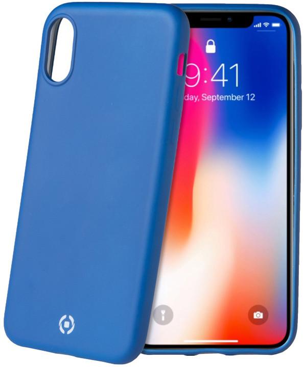 CELLY Sotmatt TPU pouzdro pro Apple iPhone X, matné provedení, modré