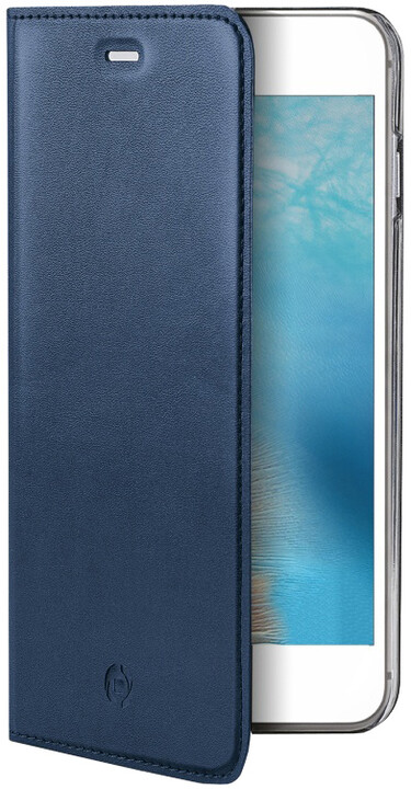 CELLY Air Pelle Pouzdro typu kniha pro Apple iPhone 7, pravá kůže, modré