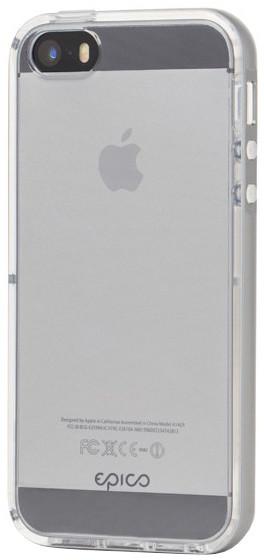 EPICO pružný plastový kryt s rámečkem pro iPhone 5/5S/SE EPICO GUARD - šedý
