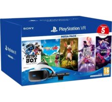 PlayStation VR v2 + Kamera v2 + PS5 adaptér + 5 her (VR Worlds, Moss, Blood & Truth, Astrobot, Ev. Golf)