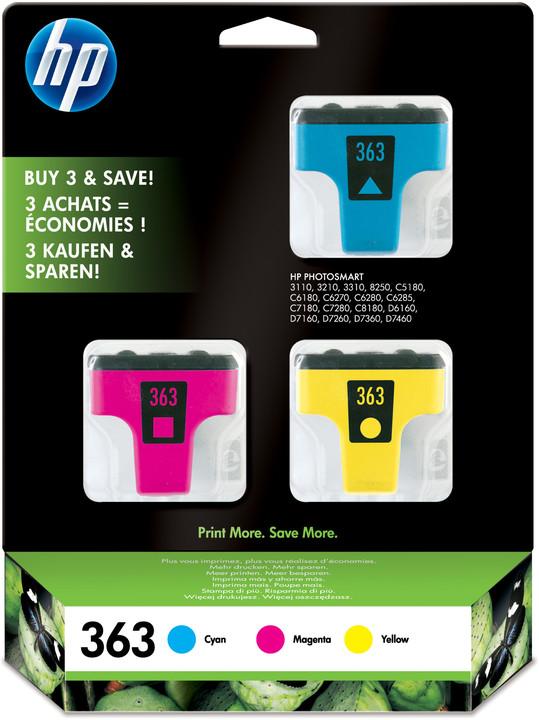 HP CB333EE, 363 CMY 3-pack – ušetřete až 20 % oproti standardní náplni