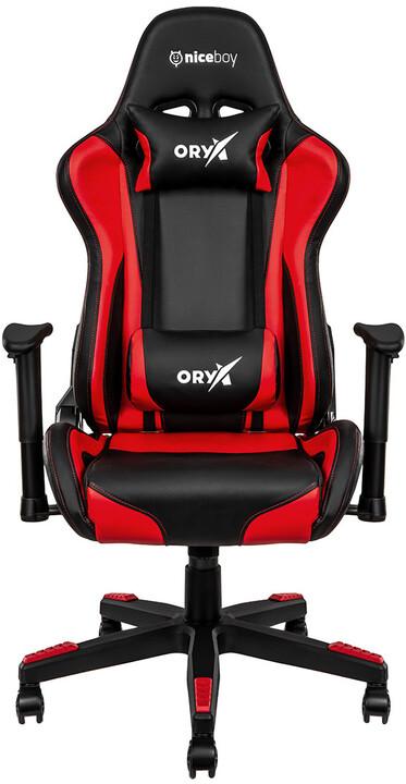Niceboy ORYX Throne, černá/červená