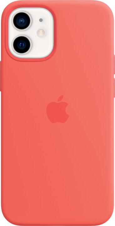 Apple silikonový kryt s MagSafe pro iPhone 12 mini, růžová