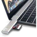Satechi Aluminum Type-C USB 30, Micro/SD Card Reader, stříbrná