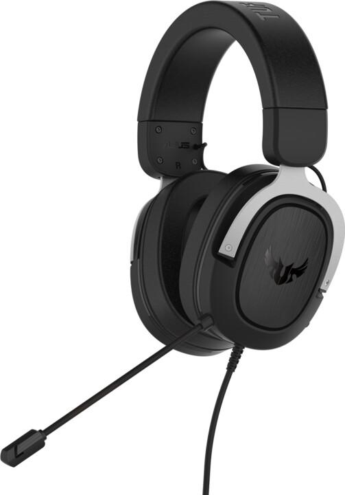 ASUS TUF Gaming H3, černá/stříbrná