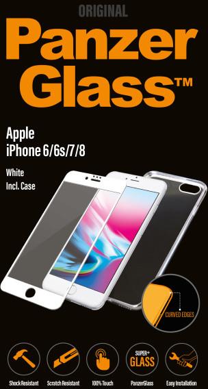 PanzerGlass Premium pro Apple iPhone 6/6s/7/8 bílé + pouzdro